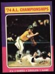 1975 Topps #459   -  Brooks Robinson 1974 AL Championships Front Thumbnail