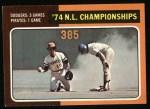 1975 Topps #460   -  Steve Garvey / Frank Taveras 1974 NL Championships Front Thumbnail