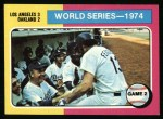 1975 Topps #462   -  Walter Alston / Joe Ferguson 1974 World Series - Game #2 Front Thumbnail