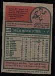 1975 Topps #469  Tom Dettore  Back Thumbnail