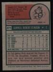 1975 Topps #471  Bob Stinson  Back Thumbnail