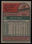 1975 Topps #474  Luke Walker  Back Thumbnail