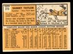 1963 Topps #273  Sammy Taylor  Back Thumbnail