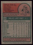 1975 Topps #626  Larry Haney  Back Thumbnail
