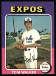 1975 Topps #627  Tom Walker  Front Thumbnail