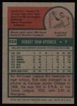1975 Topps #659  Bob Apodaca  Back Thumbnail