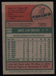 1975 Topps #474  Luke Walker  Back Thumbnail