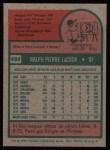 1975 Topps #494  Pete LaCock  Back Thumbnail