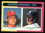 1975 Topps #313   -  Mike Marshall / Terry Forster Leading Firemen Front Thumbnail