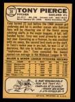 1968 Topps #38  Tony Pierce  Back Thumbnail
