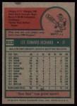 1975 Topps #653  Lee Richard  Back Thumbnail