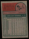 1975 Topps #439  Ed Brinkman  Back Thumbnail