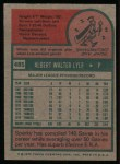 1975 Topps #485  Sparky Lyle  Back Thumbnail