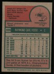 1975 Topps #486  Ray Fosse  Back Thumbnail