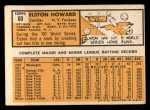 1963 Topps #60  Elston Howard  Back Thumbnail