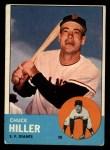 1963 Topps #185 *ERR* Chuck Hiller  Front Thumbnail