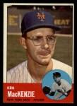 1963 Topps #393  Ken MacKenzie  Front Thumbnail