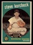 1959 Topps #284  Steve Korcheck  Front Thumbnail