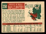 1959 Topps #250  Billy O'Dell  Back Thumbnail
