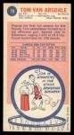 1969 Topps #79  Tom Van Arsdale  Back Thumbnail