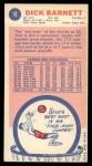 1969 Topps #18  Dick Barnett  Back Thumbnail
