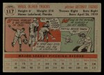 1956 Topps #117 GRY Virgil Trucks  Back Thumbnail