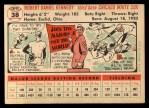 1956 Topps #38  Bob Kennedy  Back Thumbnail