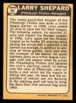 1968 Topps #584  Larry Shepard  Back Thumbnail