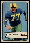1954 Bowman #88  Dave Hanner  Front Thumbnail