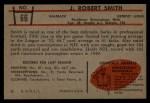 1953 Bowman #66  Robert Smith  Back Thumbnail
