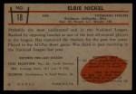 1953 Bowman #18  Elbert Nickel  Back Thumbnail