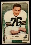 1954 Bowman #52  Lou Groza  Front Thumbnail