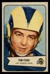 1954 Bowman #20  Tom Fears  Front Thumbnail