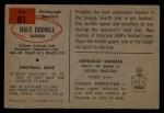 1954 Bowman #81  Dale Dodrill  Back Thumbnail