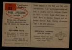 1954 Bowman #83  Paul Lipscomb  Back Thumbnail
