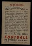 1951 Bowman #55  Al DeRogatis  Back Thumbnail