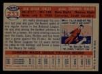 1957 Topps #233  Art Fowler  Back Thumbnail