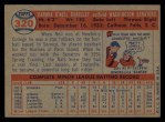 1957 Topps #320  Neil Chrisley  Back Thumbnail