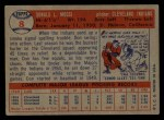 1957 Topps #8  Don Mossi  Back Thumbnail