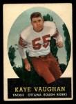 1958 Topps CFL #80  Kaye Vaughan  Front Thumbnail