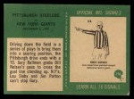 1966 Philadelphia #156   -  Gary Ballman / Bill Nelsen Pittsburg Steelers Back Thumbnail