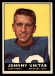 1961 Topps #1  Johnny Unitas  Front Thumbnail