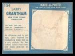 1961 Topps #154  Larry Grantham  Back Thumbnail