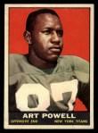1961 Topps #151  Art Powell  Front Thumbnail