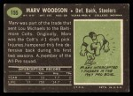 1969 Topps #155  Marv Woodson  Back Thumbnail