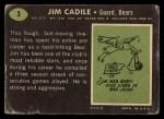 1969 Topps #3  Jim Cadile  Back Thumbnail