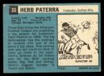1964 Topps #33  Herb Paterra  Back Thumbnail