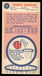 1969 Topps #15  Connie Hawkins  Back Thumbnail