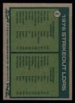 1977 Topps #6   -  Nolan Ryan / Tom Seaver Strikeout Leaders   Back Thumbnail