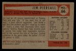 1954 Bowman #66 ^JIM^ Jimmy Piersall  Back Thumbnail